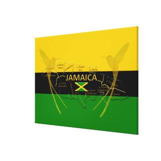 鳥をぶんぶんいうジャマイカの教区色; サイズ キャンバスプリント