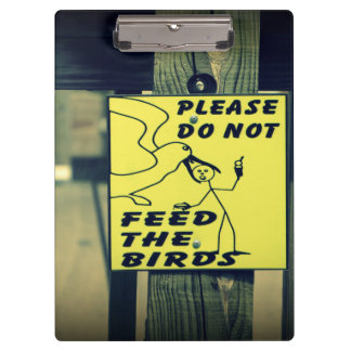 鳥を食べ物を与えないで下さい クリップボード