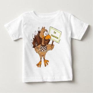 鳥を......食べますベジタリアンを救って下さい ベビーTシャツ