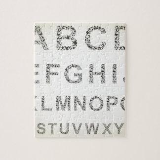 鳥アルファベット ジグソーパズル