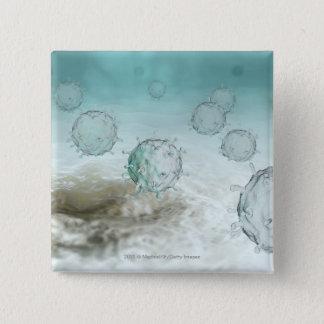 鳥インフルエンザの細胞のイラストレーション 缶バッジ