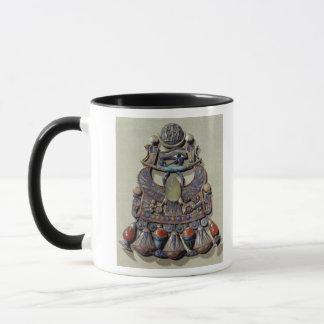 鳥オオタマオシコガネと胸 マグカップ