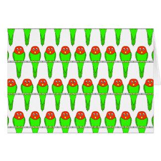 鳥パターン。 インコ カード