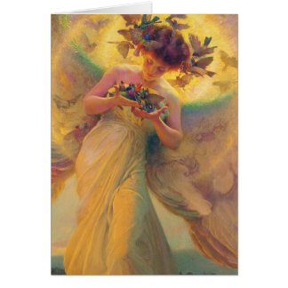 鳥フランツDvorak 1910年の天使 カード
