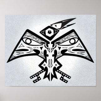 鳥人-ネイティブアメリカンの芸術ポスター11x14 ポスター