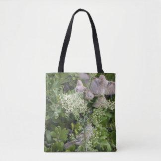 鳥及び植物 トートバッグ