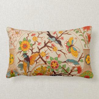 鳥及び蝶Lumbarの枕 ランバークッション