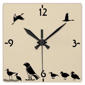 鳥島 スクエア壁時計