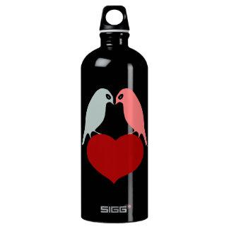 鳥愛ハート ウォーターボトル