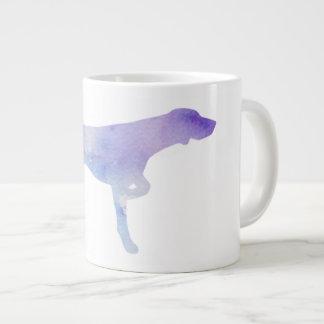 鳥犬の水彩画のマグ ジャンボコーヒーマグカップ