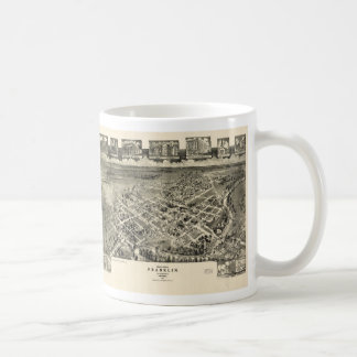 鳥目眺めの地図フランクリンヴァージニア(1907年) コーヒーマグカップ