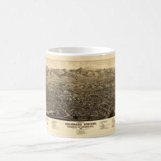 鳥瞰的な眺めコロラドスプリングス、コロラド州(1882年) コーヒーマグカップ