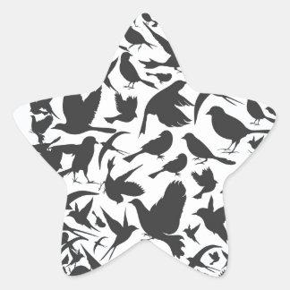 鳥頭部 星シール