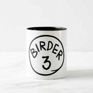 鳥類捕獲人3 ツートーンマグカップ