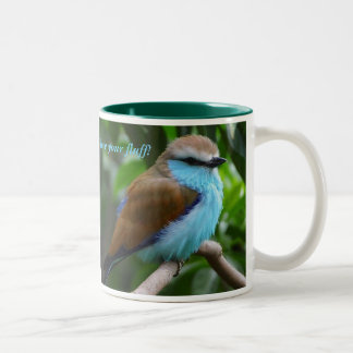 鳥2は、あなたの綿毛を愛します! ツートーンマグカップ