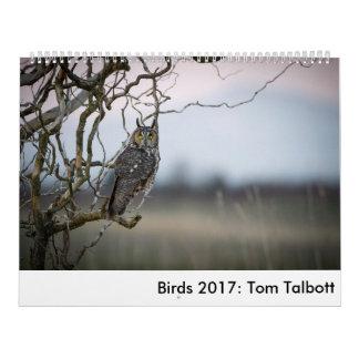 鳥2017年: トムTalbott カレンダー