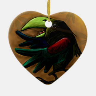 鳥9870熱帯エキゾチックおもしろいオウムコンゴウインコ セラミックオーナメント