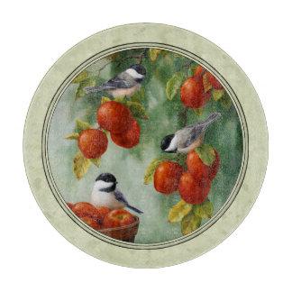 《鳥》アメリカゴガラおよびりんごの木の緑 カッティングボード