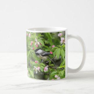 《鳥》アメリカゴガラおよび春の花 コーヒーマグカップ