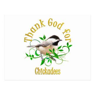 《鳥》アメリカゴガラのために神を感謝していして下さい ポストカード