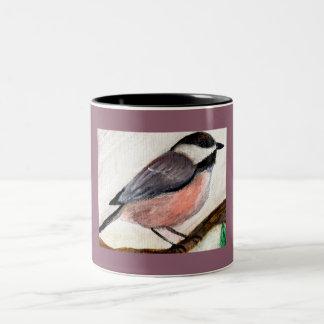 《鳥》アメリカゴガラのコーヒー・マグ ツートーンマグカップ