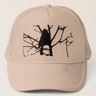 《鳥》アメリカゴガラのシルエット愛野鳥観察 キャップ