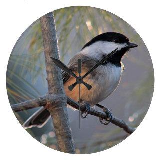 《鳥》アメリカゴガラの写真 ラージ壁時計
