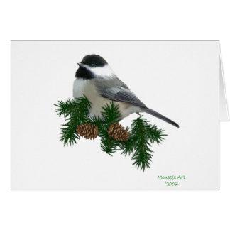 《鳥》アメリカゴガラの大活字のクリスマスカード カード