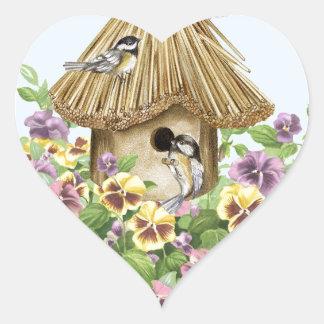 《鳥》アメリカゴガラの巣箱 ハートシール