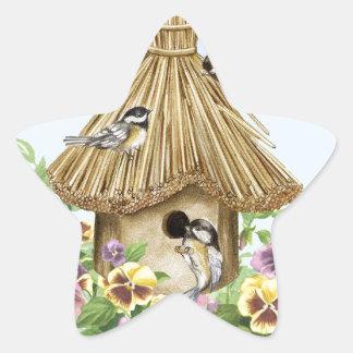 《鳥》アメリカゴガラの巣箱 星シール