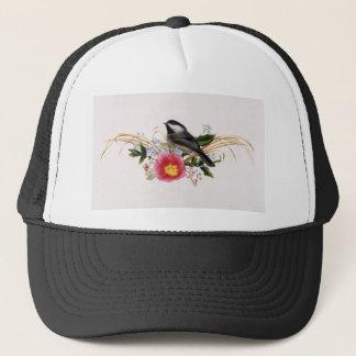 《鳥》アメリカゴガラの花柄 キャップ