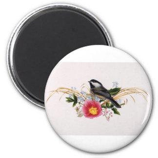 《鳥》アメリカゴガラの花柄 マグネット