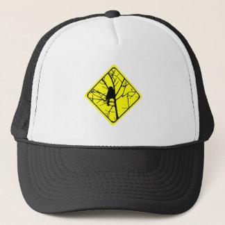 《鳥》アメリカゴガラの警告標識愛野鳥観察 キャップ