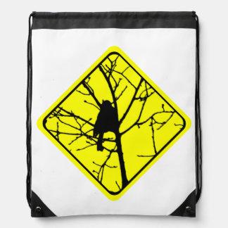 《鳥》アメリカゴガラの警告標識愛野鳥観察 ナップサック