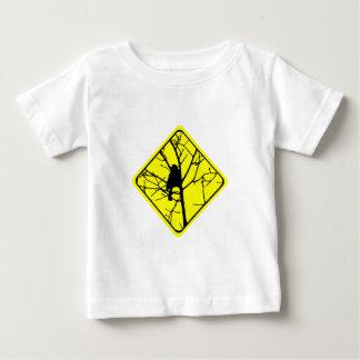 《鳥》アメリカゴガラの警告標識愛野鳥観察 ベビーTシャツ