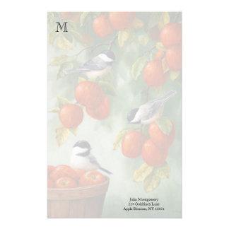 《鳥》アメリカゴガラの鳥のAppleの収穫 便箋