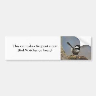 《鳥》アメリカゴガラの鳥監視人のバンパーステッカー バンパーステッカー
