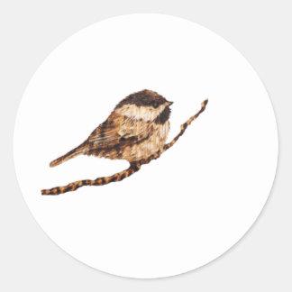 《鳥》アメリカゴガラのPyrography ラウンドシール