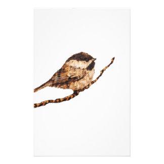 《鳥》アメリカゴガラのPyrography 便箋