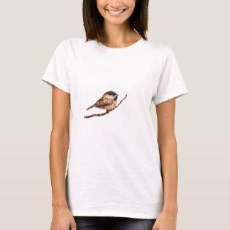《鳥》アメリカゴガラのPyrography Tシャツ