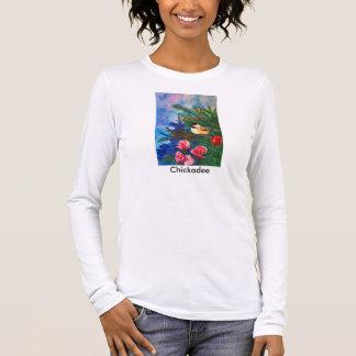 《鳥》アメリカゴガラのTシャツ 長袖Tシャツ