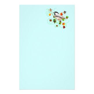 《鳥》アメリカゴガラ及び紅葉 便箋