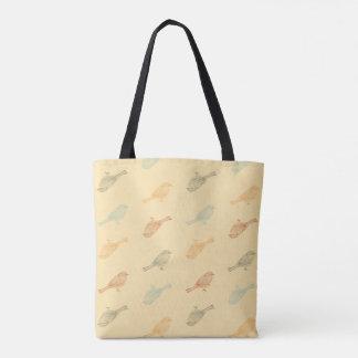 《鳥》アメリカゴガラ暖かいパターントート トートバッグ
