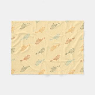 《鳥》アメリカゴガラ暖かいパターンフリースブランケット フリースブランケット