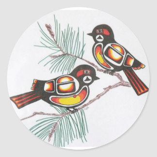 《鳥》アメリカゴガラ1 ラウンドシール