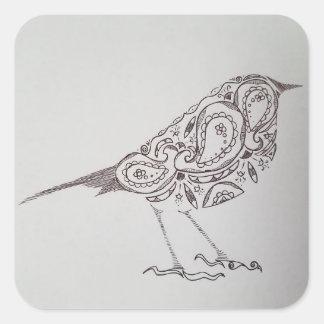《鳥》アメリカゴガラ スクエアシール
