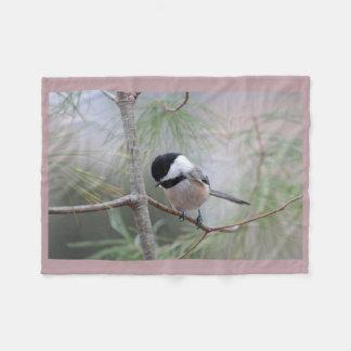 《鳥》アメリカゴガラ フリースブランケット