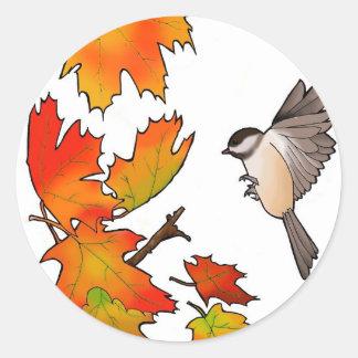 《鳥》アメリカゴガラ ラウンドシール