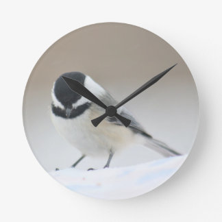 《鳥》アメリカゴガラ ラウンド壁時計