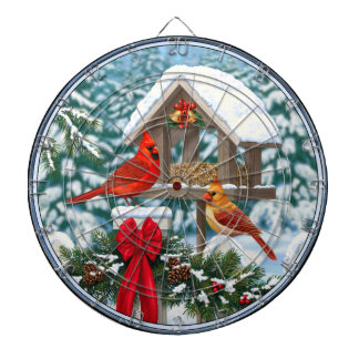 (鳥)ショウジョウコウカンチョウおよびクリスマスの鳥の送り装置 ダーツボード